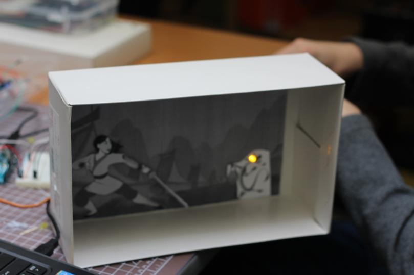 LED Servo motors in a shoe box